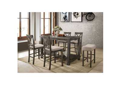 Image for Martha II Tan/Weathered Oak Counter Stool (Set of 2)