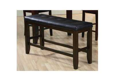 Image for Urbana Black PU & Espresso Counter Height Bench