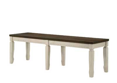 Image for Fedele Weathered Oak & Cream Finish Bench