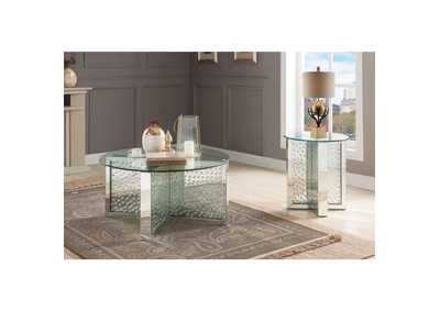 Image for Nysa Mirrored/Faux Crystals Coffee Table