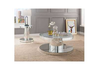 Image for Ornat Mirrored/Faux Stones End Table