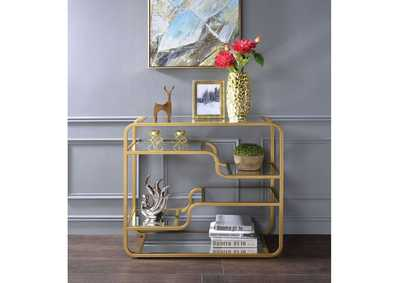 Astrid Gold & Mirror Accent Table