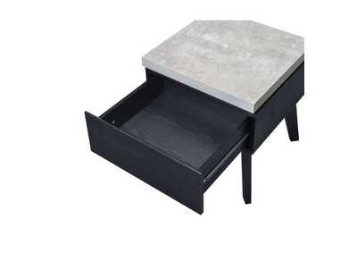 Magna Faux Concrete & Black End Table