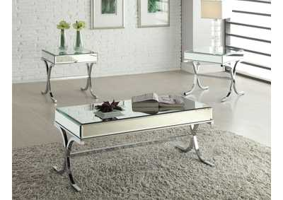 Image for Yuri Mirrored Top & Chrome Coffee Table