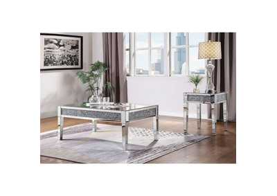 Noralie Mirrored & Faux Diamonds Coffee Table
