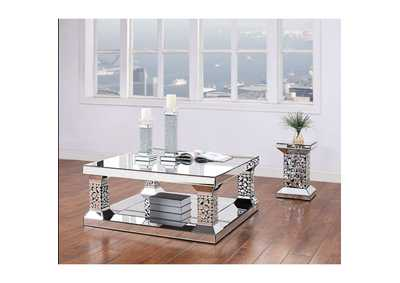 Kachina Mirrored & Faux Gems Coffee Table