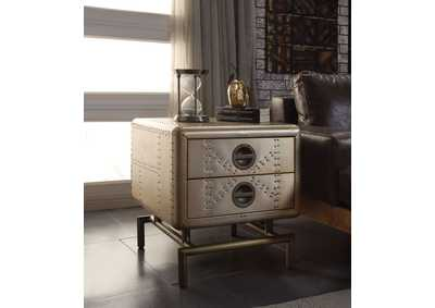 Jennavieve Gold Aluminum End Table
