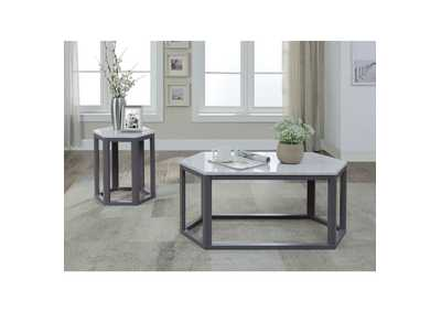 Reon Marble & Gray Coffee Table