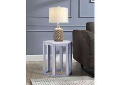 Reon Marble/Silver End Table (Set of 2)