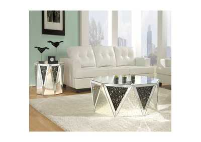 Noor Mirrored & Faux GemStones Coffee Table