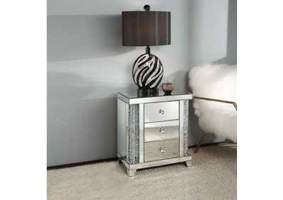 Noralie Mirrored Faux Diamonds End Table,Acme