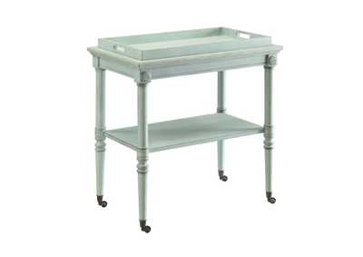 Image for Frisco Antique Green Tray Table
