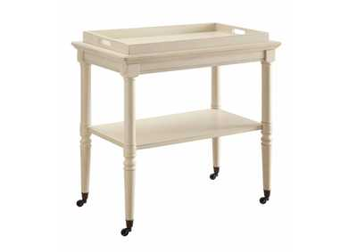 Image for Frisco Antique White Tray Table
