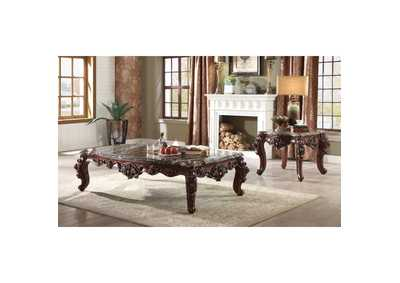 Forsythia Marble & Walnut Coffee Table