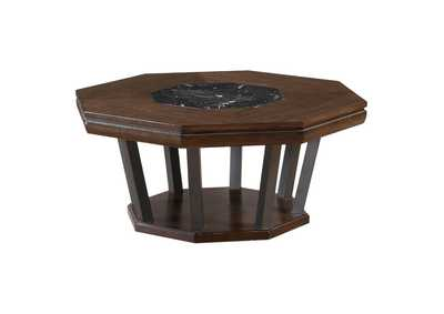 Selma Marble & Tobacco Coffee Table