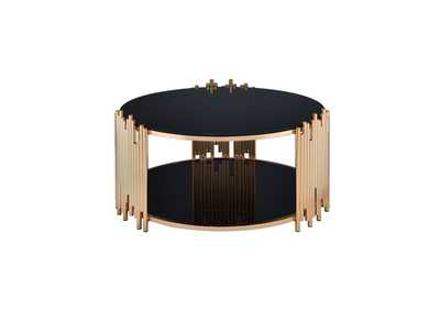 Tanquin Gold & Black Glass Coffee Table