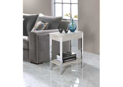 Philo Natural & Chrome Accent Table
