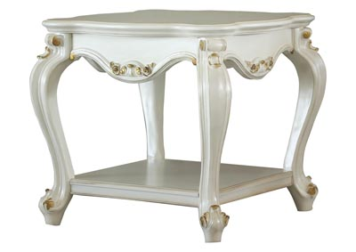 Picardy Antique Pearl End Table