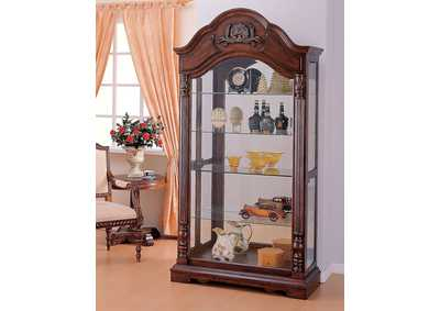 Image for Denton Cherry Curio Cabinet