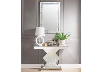Nysa Mirrored Faux Crystals Console Table,Acme