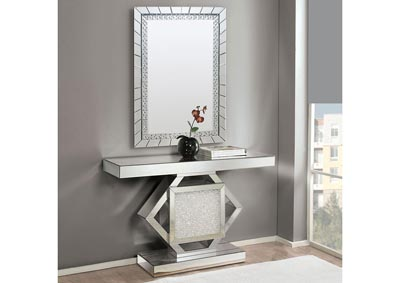 Nowles Mirrored/Faux Stones Console Table,Acme
