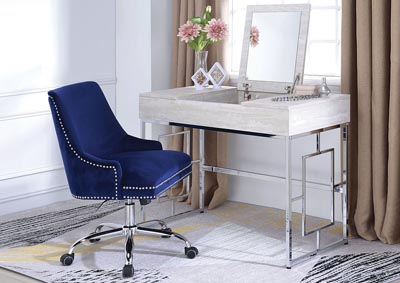 Image for Saffron Natural/Chrome Vanity Desk