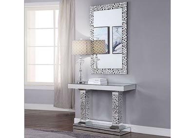 Kachina Mirrored Faux Gems Console Table,Acme