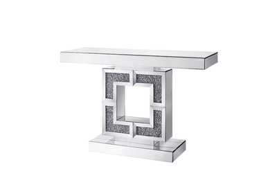 Noralie Mirrored & Faux Diamonds Accent Table