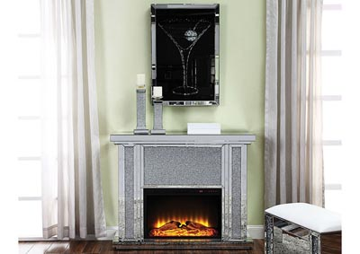 Image for Nowles Silver Electric Fireplace