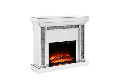 Noralie Mirrored & Faux Diamonds Fireplace