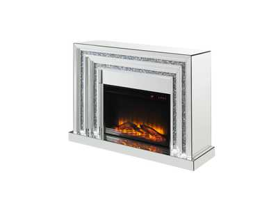 Image for Noralie Mirrored & Faux Diamonds Fireplace
