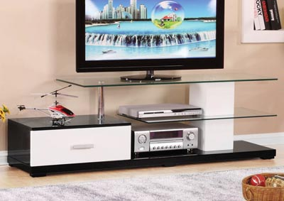 Image for Ivana White/Black TV Stand