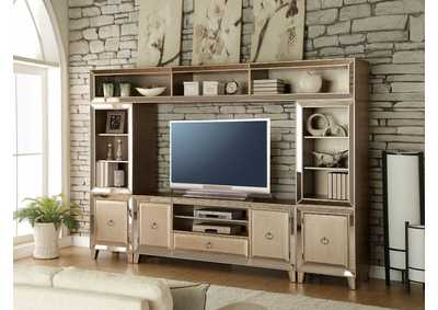 Image for Voeville Antique Gold Entertainment Center