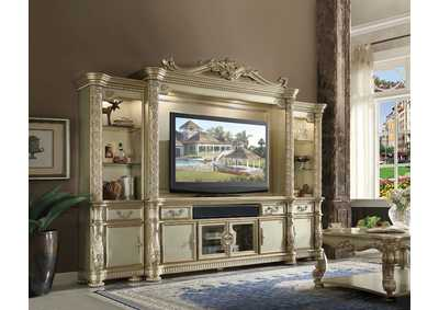 Image for Vendome II Gold Patina/Bone Entertainment Center