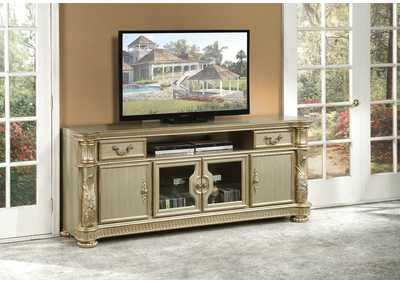 Image for Vendome II Gold Patina & Bone TV Stand