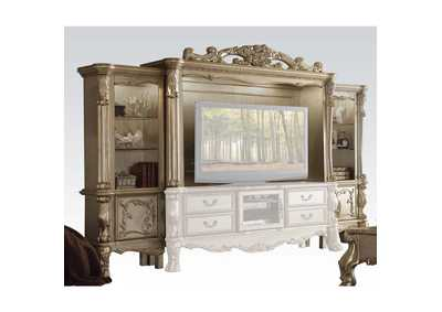 Image for Dresden Gold Patina/Bone Entertainment Center