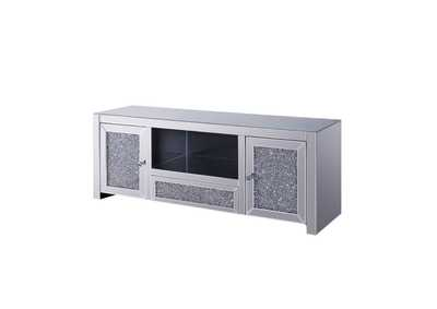 Noralie Mirrored & Faux Diamonds TV Stand