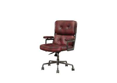 Image for Larisa Vintage Merlot Top Grain Leather Executive Office Chair