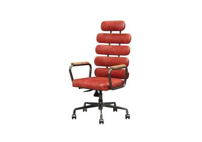 Image for Calan Antique Red Top Grain Leather Executive Office Chair