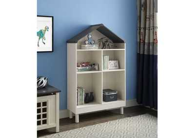 Doll Cottage Weathered White/Washed Gray Bookcase