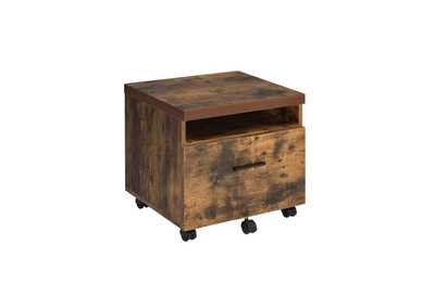 Image for Bob Weathered Oak & Black File Cabinet