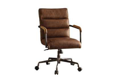 Harith Retro Brown Office Chair