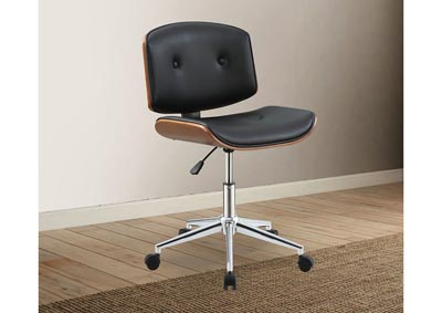 Camila Black/Walnut Office Chair