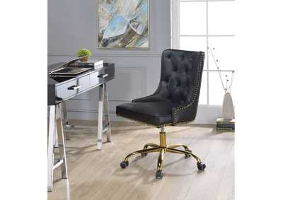 Purlie Black PU & Gold Office Chair