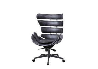 Image for Megan Vintage Black/Aluminum Office Chair