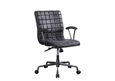 Barack Vintage Black/Aluminum Office Chair