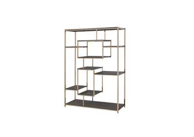 Image for Scaola Gray Oak/Champagne Bookshelf