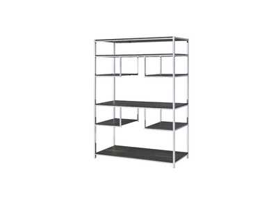 Image for Vonara Gray Oak/Chrome Bookshelf