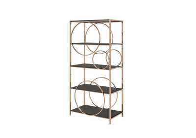 Image for Hudice Black Oak/Champagne Bookshelf
