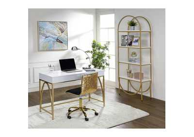 Image for Lightmane White/Gold Bookshelf